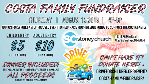 Costa Family Fundraiser flyer
