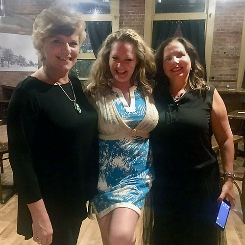 Three ladies that attended the salsa dance night.
