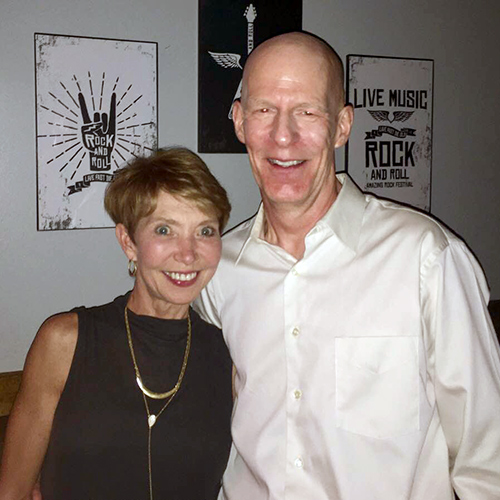 A man and woman that attended the salsa dance night.